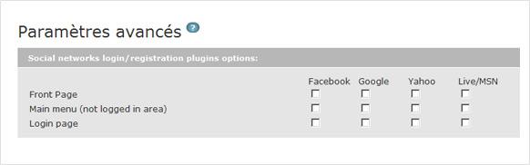 Identifiant Facebook est désormais complémenté par identifiants Google, Live et Yahoo